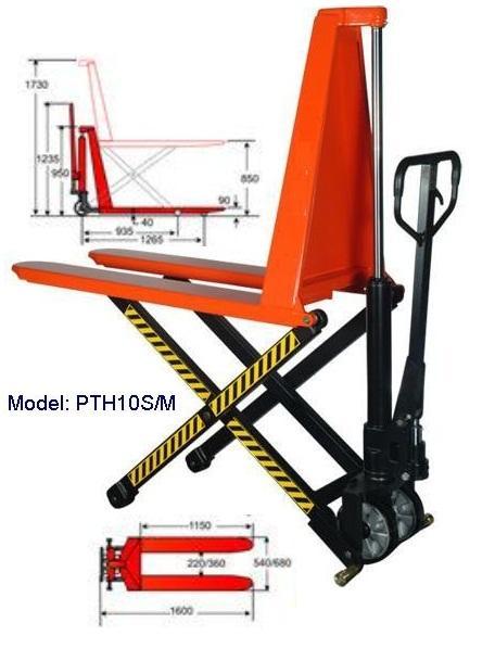 Xe nâng tay cao PTH15M (càng rộng)